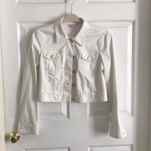 Lilly Pulitzer white crop jacket, size 10